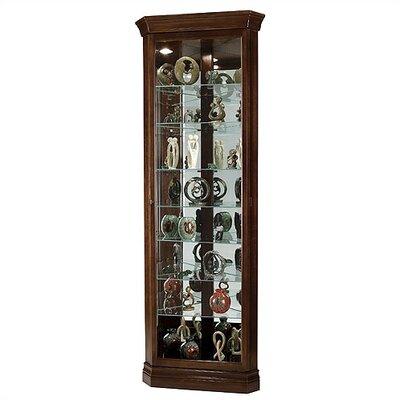 Cheap Howard Miller Drake Corner Curio Cabinet in Cherry Bordeaux (HW1985)