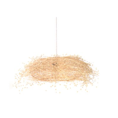 Lotus 1-Light Drum Pendant Color: Beige