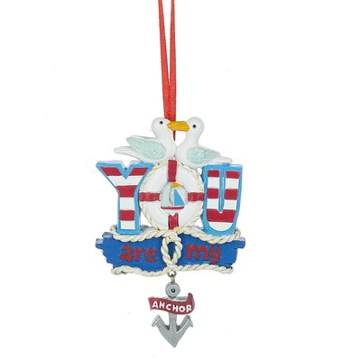 You Are My Anchor Hanging Figurine