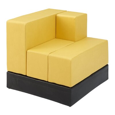 Cellular? Arm Back Seat Cell  Sectional Upholstery: Shale Fun Cover