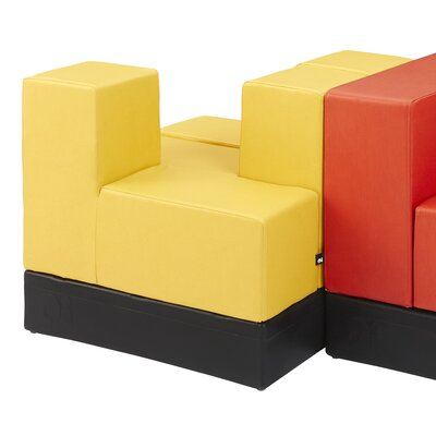 Cellular? Arm Two Back Cell Modular Sectional Upholstery: Flan Fun Cover