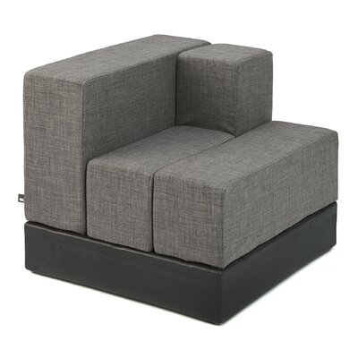 Cellular Arm Back Seat Cell Sectional Upholstery: Light Grey Living Cover