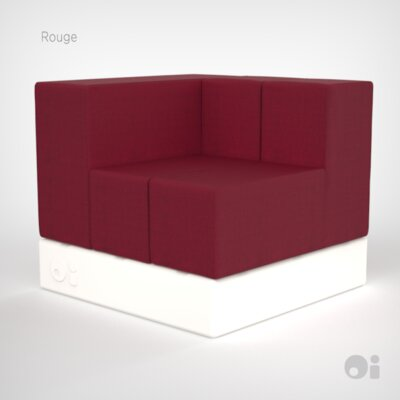 Cellular Arm Two Back Cell  Sectional Upholstery: Rouge Living Cover