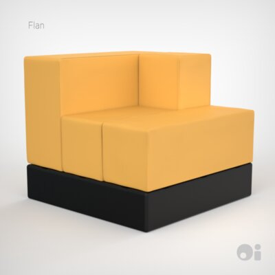 Cellular Arm Back Seat Cell Sectional Upholstery: Flan Fun Cover