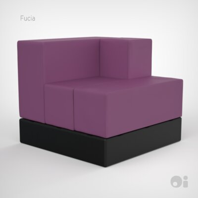Cellular Arm Back Seat Cell Sectional Upholstery: Fucia Fun Cover
