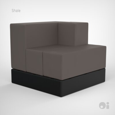 Cellular Arm Back Seat Cell Sectional Upholstery: Shale Fun Cover