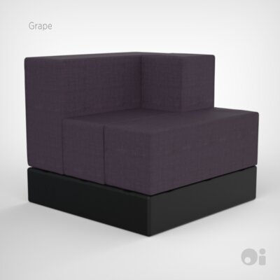 Cellular Arm Back Seat Cell Sectional Upholstery: Grape Living Cover