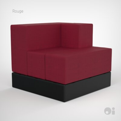 Cellular Arm Back Seat Cell Sectional Upholstery: Rouge Living Cover
