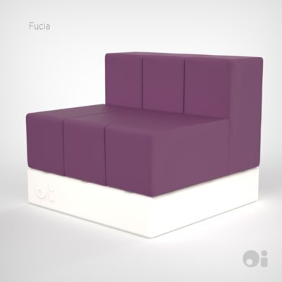 Cellular Three Back Modular Sectional Upholstery: Fucia Fun Cover