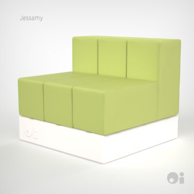 Cellular Three Back Modular Sectional Upholstery: Jessamy Fun Cover