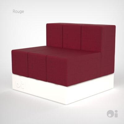 Cellular Three Back Modular Sectional Upholstery: Rouge Living Cover