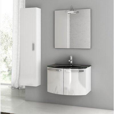 Crystal Dance 30 Single Bathroom Vanity Set with Mirror
