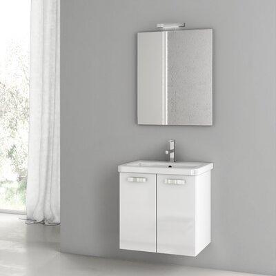 City Play 22 Single Bathroom Vanity Set with Mirror Base Finish: Gray Oak Senlis