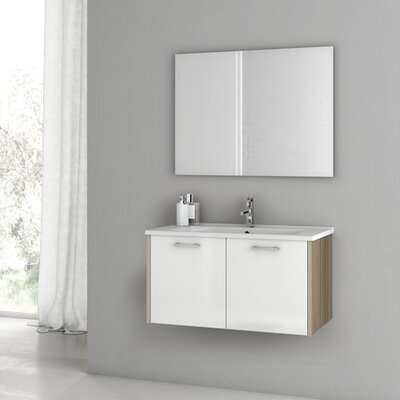 Nico 32.7 Single Bathroom Vanity Set with Mirror