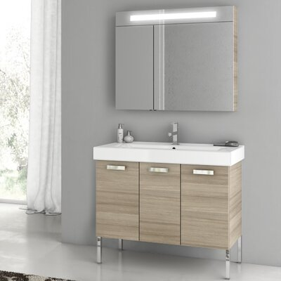 Cubical 37.4 Single Bathroom Vanity Set Base Finish: Larch Canapa