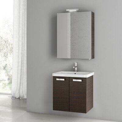 City Play 22 Single Bathroom Vanity Set Base Finish: Wenge