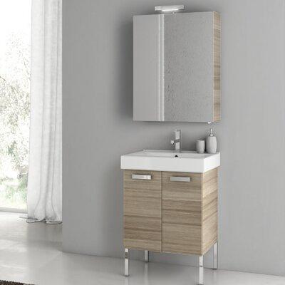 Cubical 21.9 Single Bathroom Vanity Set Base Finish: Larch Canapa