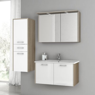 Nico 32.7 Single Bathroom Vanity Set