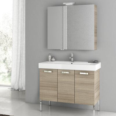 Cubical 37.4 Single Vanity Set Base Finish: Larch Canapa