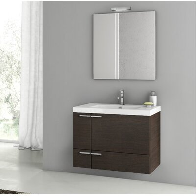 Phinex 31.3 Single Bathroom Vanity Set with Mirror