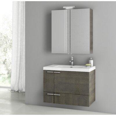 New Space 31.3 Single Bathroom Vanity Set Base Finish: Gray Oak Senlis