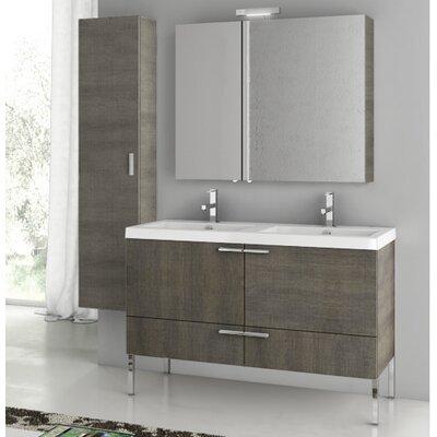 New Space 47 Bathroom Vanity Set with Mirror Base Finish: Gray Oak Senlis