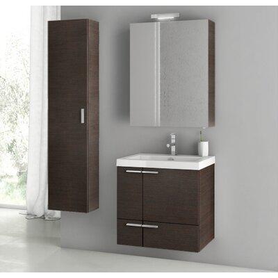 New Space 23.4 Single Bathroom Vanity Set Base Finish: Wenge