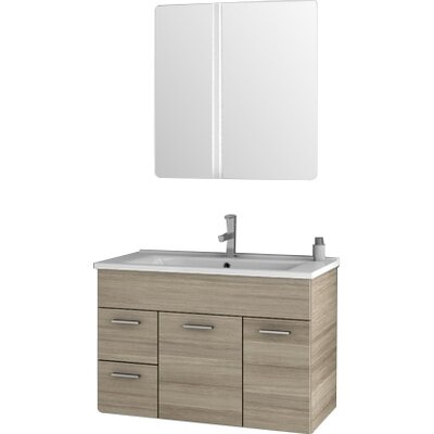 Loren 32.7 Single Bathroom Vanity Set with Mirror Base Finish: Larch Canapa