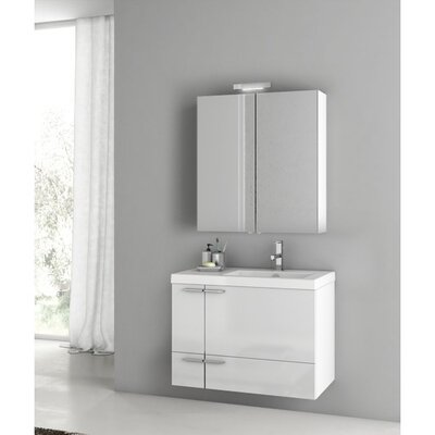 New Space 32 Single Bathroom Vanity Set Base Finish: Gray Oak