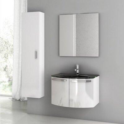 Crystal Dance 28 Single Bathroom Vanity Set with Mirror