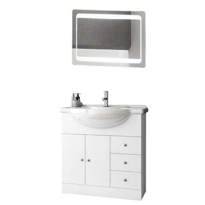 London 34 Single Bathroom Vanity Set with Mirror