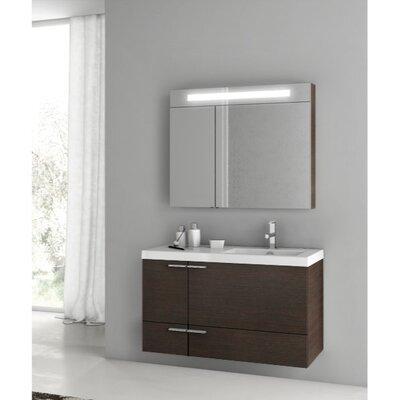 New Space 39 Single Bathroom Vanity Set Base Finish: Wenge