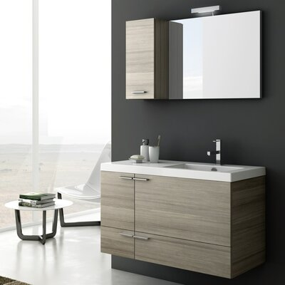 New Space 39 Single Bathroom Vanity Set with Mirror