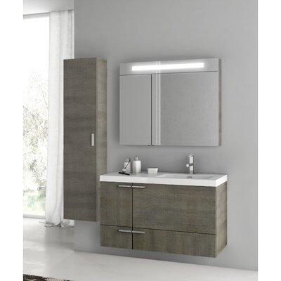 New Space 39 Single Bathroom Vanity Set Base Finish: Gray Oak