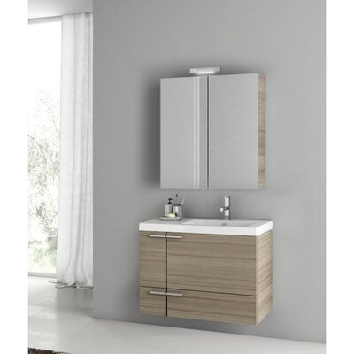New Space 32 Single Bathroom Vanity Set Base Finish: Larch Canapa