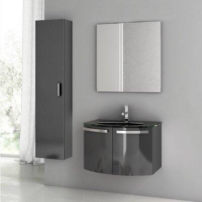 Crystal Dance 30 Single Bathroom Vanity Set with Mirror