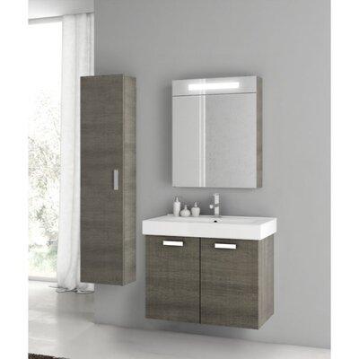 Cubical 27 Single Bathroom Vanity Set Base Finish: Gray Oak