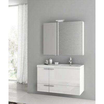 New Space 39 Single Bathroom Vanity Set Base Finish: Glossy White