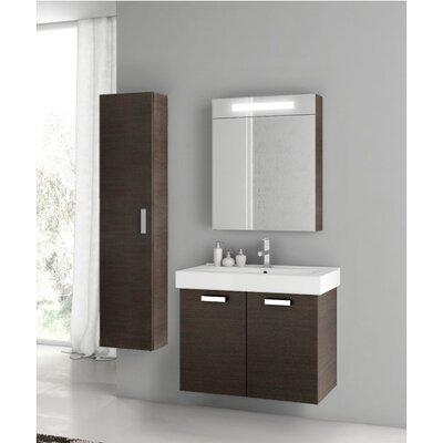 Cubical 27 Single Bathroom Vanity Set Base Finish: Wenge
