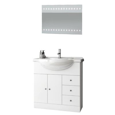 London 34 Single Bathroom Vanity Set with Mirror
