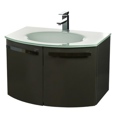 Crystal Dance 28 Single Bathroom Vanity Set Base Finish: Glossy Anthracite