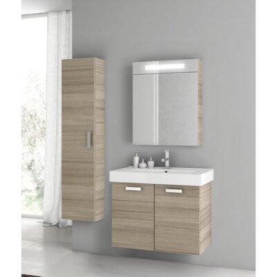 Cubical 27 Single Bathroom Vanity Set Base Finish: Larch Canapa