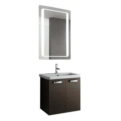 City Play 24 Single Bathroom Vanity Set with Mirror Base Finish: Gray Oak