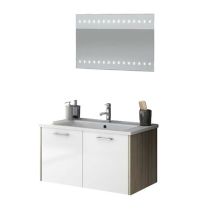Nico 34 Single Bathroom Vanity Set with Mirror