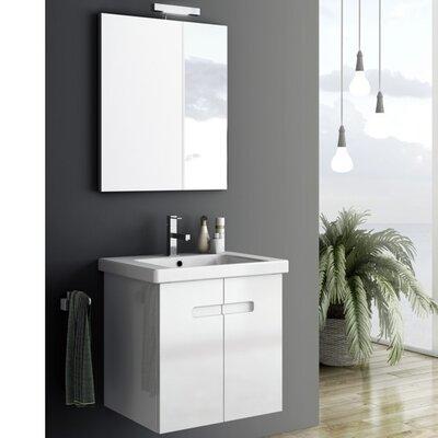 New York 2 26 Single Bathroom Vanity Set with Mirror Base Finish: Matt Canapa