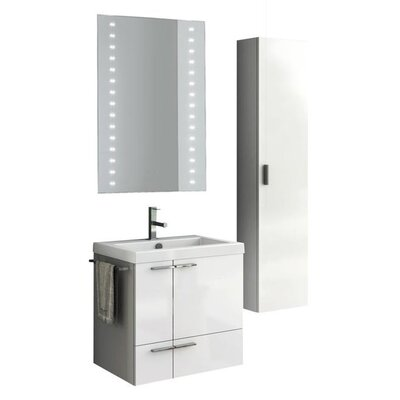 New Space 24 Single Bathroom Vanity Set with Mirror