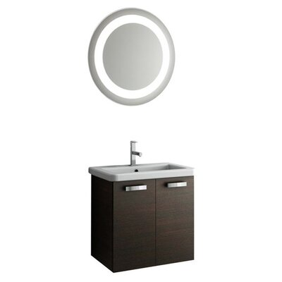 City Play 24 Single Bathroom Vanity Set with Mirror Base Finish: Larch Canapa