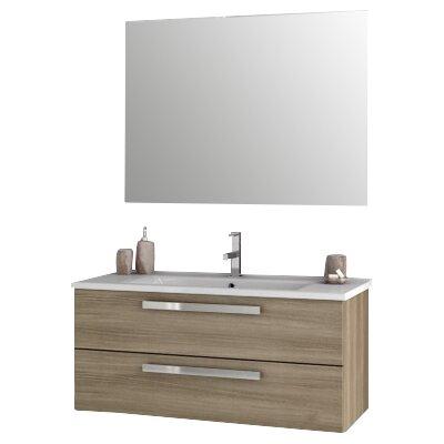 Dadila 38.2 Single Bathroom Vanity Set with Mirror Base Finish: Style Oak