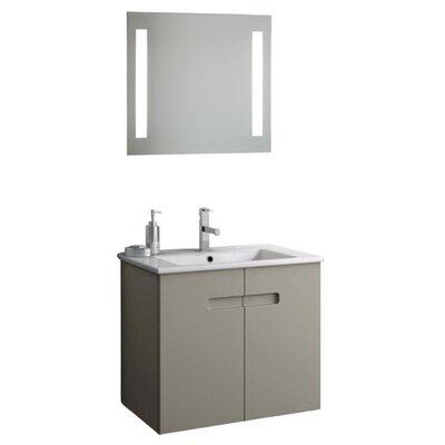 New York 26 Single Bathroom Vanity Set with Mirror Base Finish: Matt Canapa