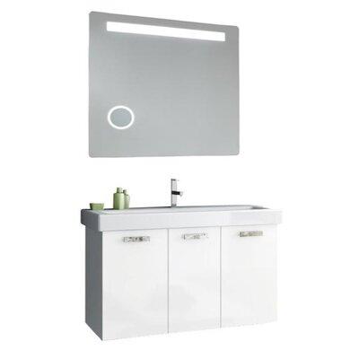 Cubical 41 Single Bathroom Vanity Set with Mirror